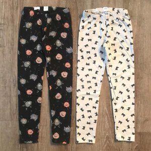 Bundle of Two Gap Girl's Print Leggings Small 6-7